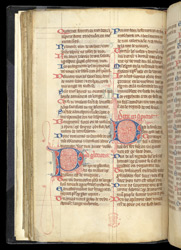 Decorated Initials In A Psalter, In A Miscellany Of Texts In French